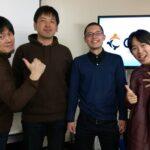 左からCo-Edoオーナーの田中さん、よつばデザイン後藤さん、僕、大原さん