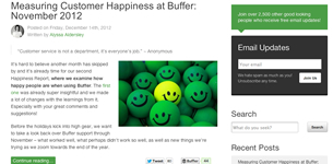 Buffer blog