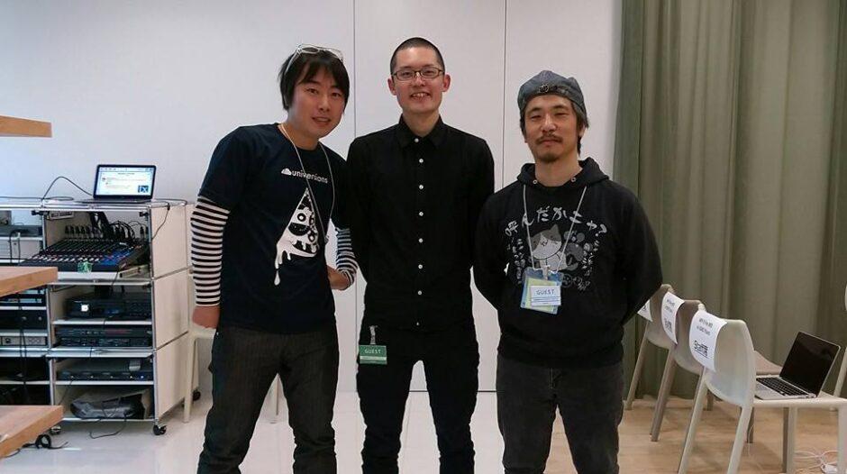 大原さん、BizVektor作者の石川さんと。photo by @webboyjp